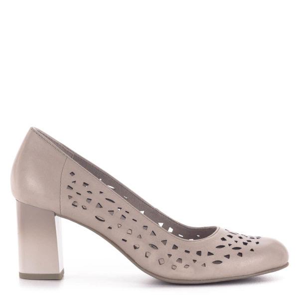 Vágott mintás Jana magassarkú cipő, rózsaszín - Jana 8-22491-24 521 3