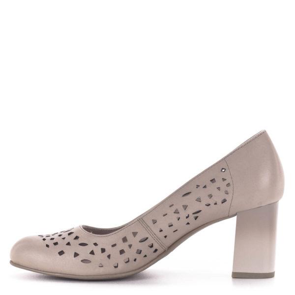 Vágott mintás Jana magassarkú cipő, rózsaszín - Jana 8-22491-24 521 4