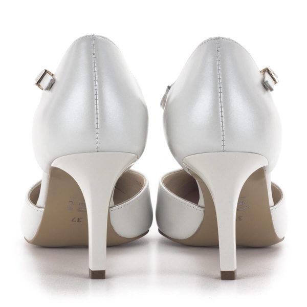 T pántos Anis magassarkú alkalmi cipő gyöngyházfehér színben, 7,5 cm - Anis 4798 PERLA 4 5