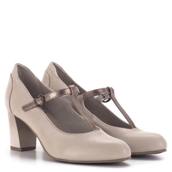 Pántos Jana magassarkú cipő bézs színben - Jana 8-24492-24 521 1