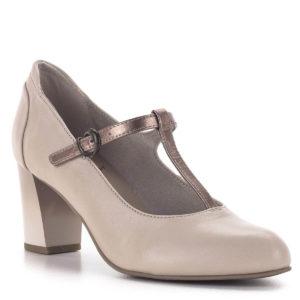 Pántos Jana magassarkú cipő bézs színben - Jana 8-24492-24 521 2