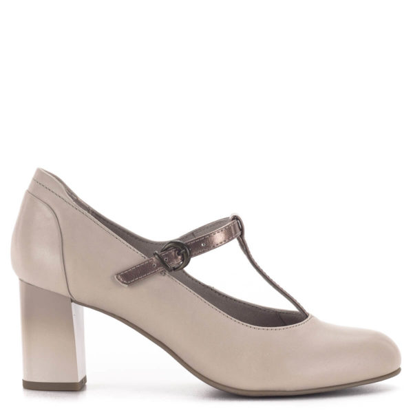 Pántos Jana magassarkú cipő bézs színben - Jana 8-24492-24 521 3