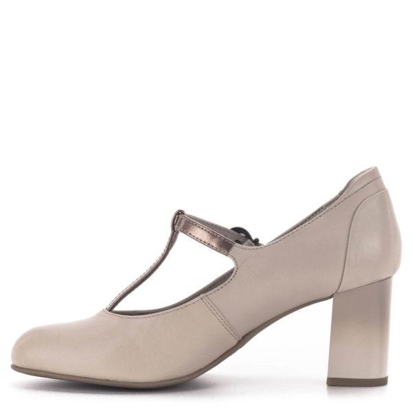 Pántos Jana magassarkú cipő bézs színben - Jana 8-24492-24 521 4