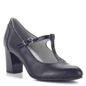 Fekete Pántos Jana magassarkú női cipő - Jana 8-24492-24 022 2