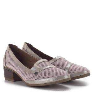Anna Viotti komfort női cipő 4 cm-es sarokkal rózsaszín-arany színben 1