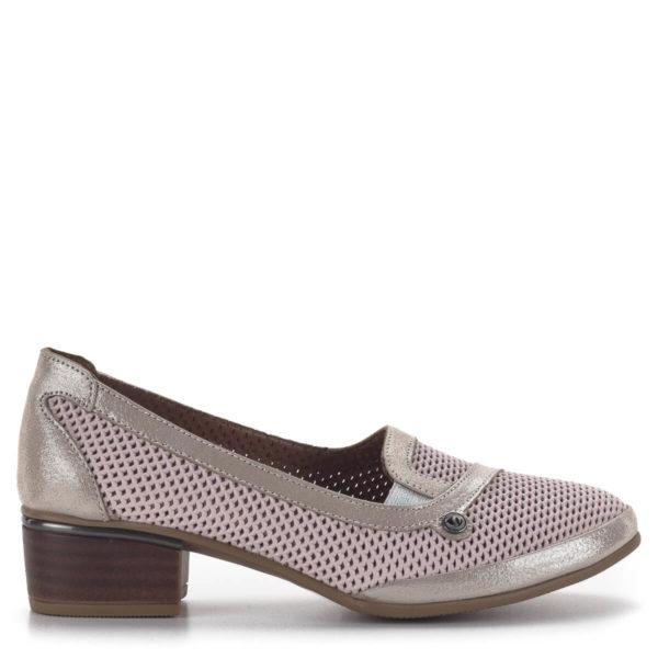 Anna Viotti komfort női cipő 4 cm-es sarokkal rózsaszín-arany színben 3