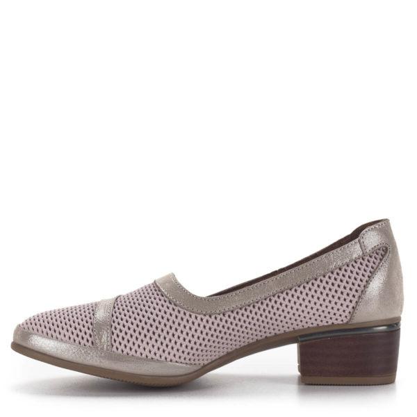 Anna Viotti komfort női cipő 4 cm-es sarokkal rózsaszín-arany színben 4