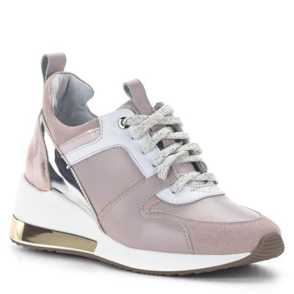 Carla Ricci női sneakers cipő platformos talppal, rózsaszín 2
