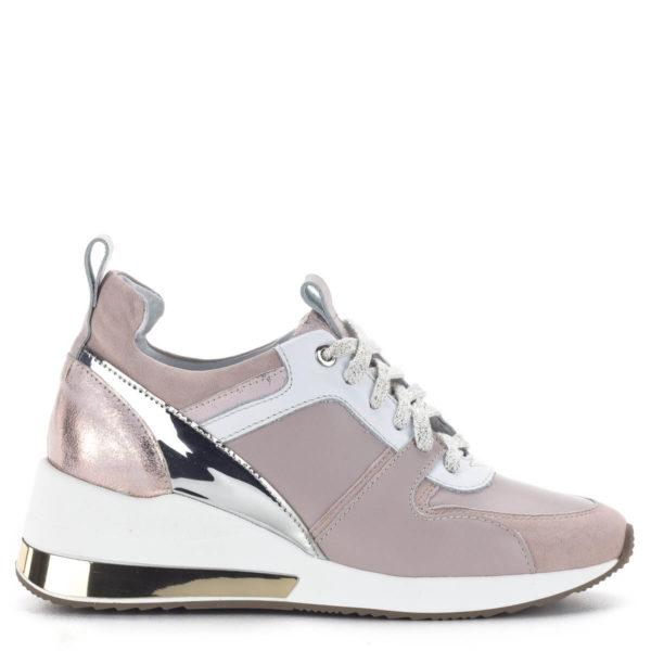 Carla Ricci női sneakers cipő platformos talppal, rózsaszín 3