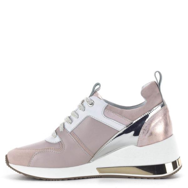 Carla Ricci női sneakers cipő platformos talppal, rózsaszín 4