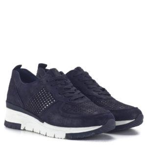 Sötétkék bőr Tamaris sneakers cipő - Tamaris 1-23745-24 885 1