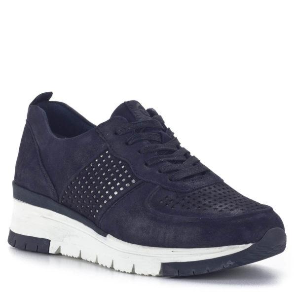 Sötétkék bőr Tamaris sneakers cipő - Tamaris 1-23745-24 885 2