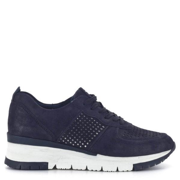 Sötétkék bőr Tamaris sneakers cipő - Tamaris 1-23745-24 885 3