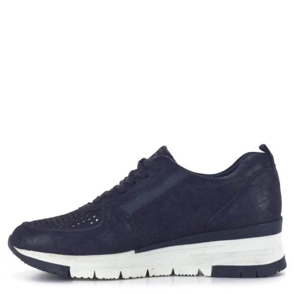 Sötétkék bőr Tamaris sneakers cipő - Tamaris 1-23745-24 885 4