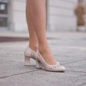 Vágott mintás Jana magassarkú cipő, rózsaszín - Jana 8-22491-24 521 10