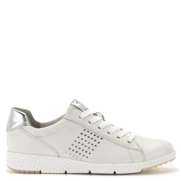 Marco Tozzi fehér-ezüst fűzős sportcipő - Marco Tozzi 2-23766-24 191 3