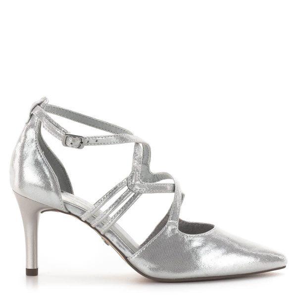 Tamaris szandálcipő 7,5 cm sarokkal, elegáns pántokkal - Tamaris 1-24440-24 941 3