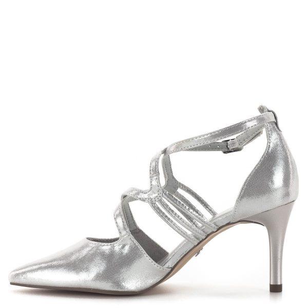Tamaris szandálcipő 7,5 cm sarokkal, elegáns pántokkal - Tamaris 1-24440-24 941 4