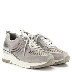Tamaris sneakers ezüst színben, lyukacsos felsőrésszel - 1-23745-24 961 1
