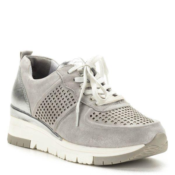 Tamaris sneakers ezüst színben, lyukacsos felsőrésszel - 1-23745-24 961 2