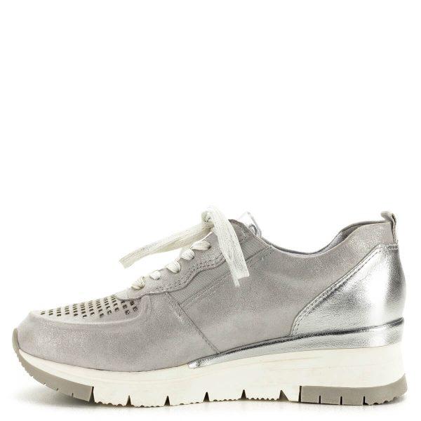 Tamaris sneakers ezüst színben, lyukacsos felsőrésszel - 1-23745-24 961 4