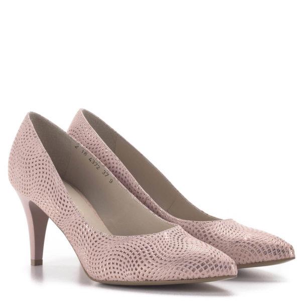 Anis tűsarkú alkalmi cipő rózsaszín, 7,5 cm magas sarokkal 1