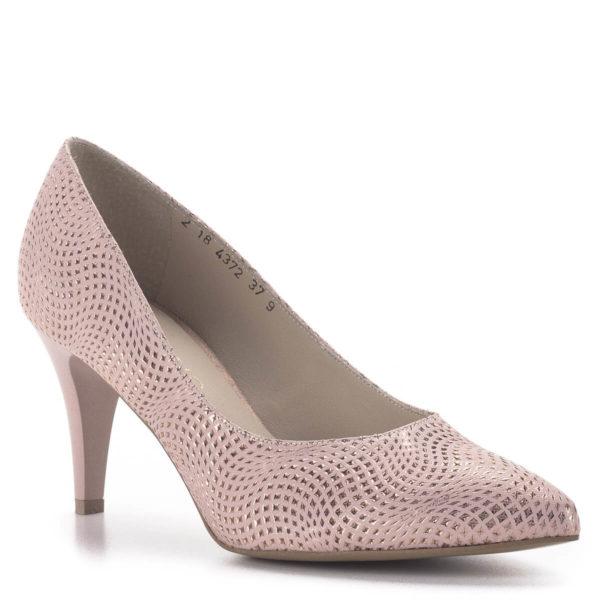 Anis tűsarkú alkalmi cipő rózsaszín, 7,5 cm magas sarokkal 2