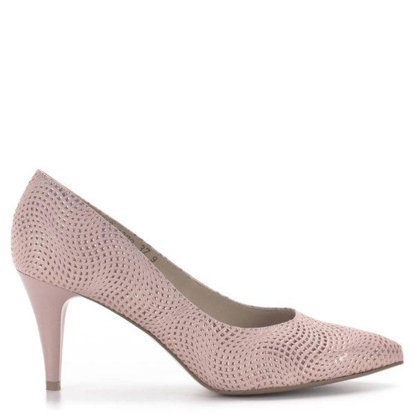 Anis tűsarkú alkalmi cipő rózsaszín, 7,5 cm magas sarokkal 3