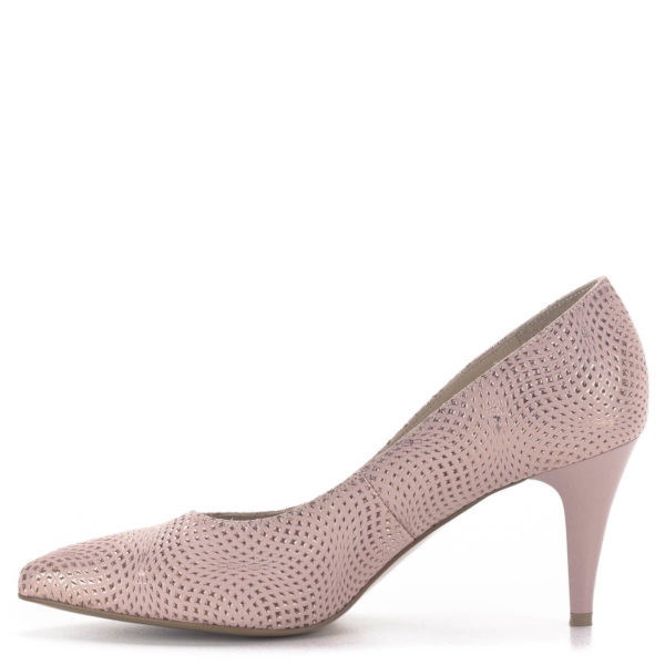 Anis tűsarkú alkalmi cipő rózsaszín, 7,5 cm magas sarokkal 4