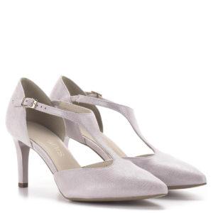 Anis T pántos magassarkú alkalmi cipő púderrózsaszín, 7,5 centis sarokkal 1