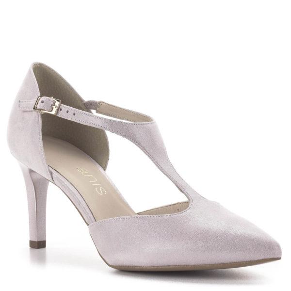 Anis T pántos magassarkú alkalmi cipő púderrózsaszín, 7,5 centis sarokkal 2
