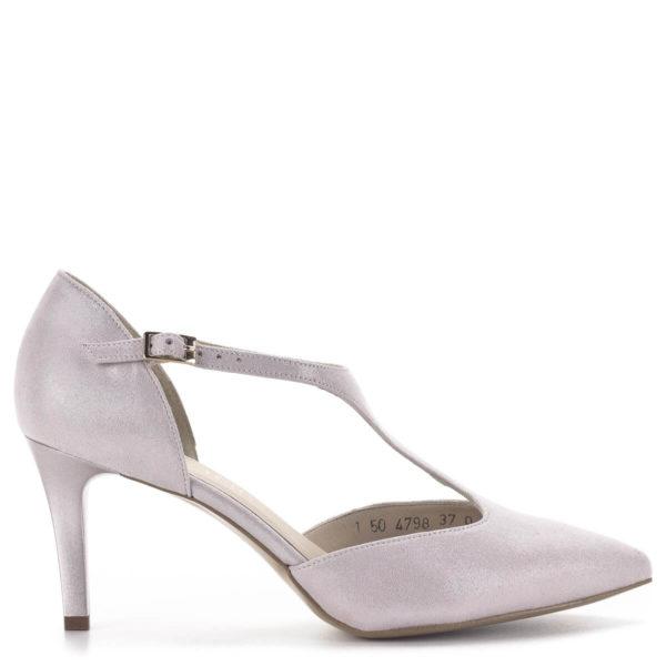 Anis T pántos magassarkú alkalmi cipő púderrózsaszín, 7,5 centis sarokkal 3