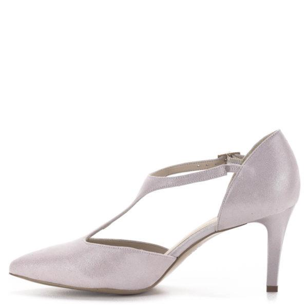 Anis T pántos magassarkú alkalmi cipő púderrózsaszín, 7,5 centis sarokkal 4
