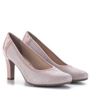 Bioeco magassarkú női körömcipő rózsaszín színben, 8 cm-es sarokkal 1
