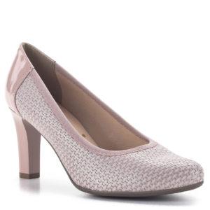 Bioeco magassarkú női körömcipő rózsaszín színben, 8 cm-es sarokkal 2