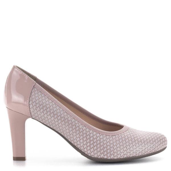 Bioeco magassarkú női körömcipő rózsaszín színben, 8 cm-es sarokkal 3