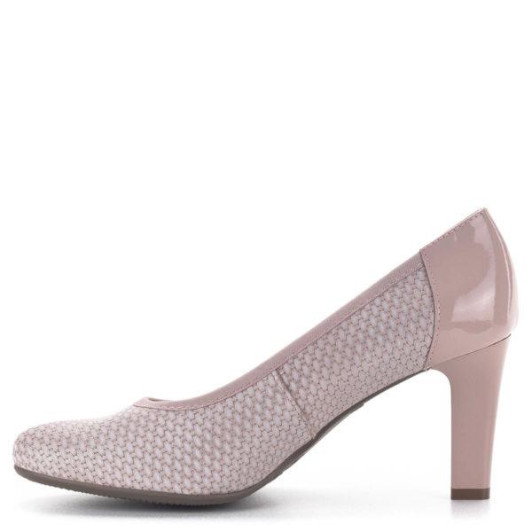 Bioeco magassarkú női körömcipő rózsaszín színben, 8 cm-es sarokkal 4
