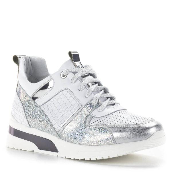 Carla Ricci fehér színű fűzős női sneakers cipő lapos talppal 2