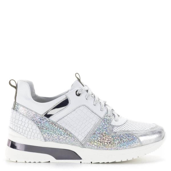 Carla Ricci fehér színű fűzős női sneakers cipő lapos talppal 3