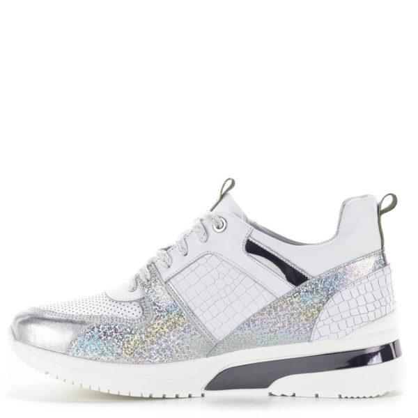 Carla Ricci fehér színű fűzős női sneakers cipő lapos talppal 4