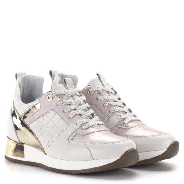 Carla Ricci fűzős női sneakers cipő lapos talppal, fehér színben 1
