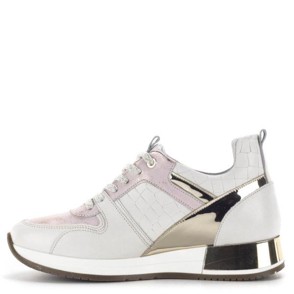 Carla Ricci fűzős női sneakers cipő lapos talppal, fehér színben 4