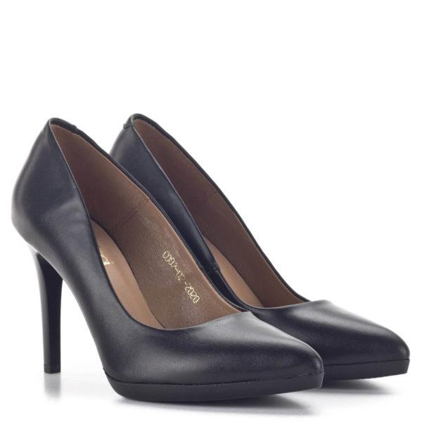 Carla Ricci platformos női magassarkú cipő fekete színben 1