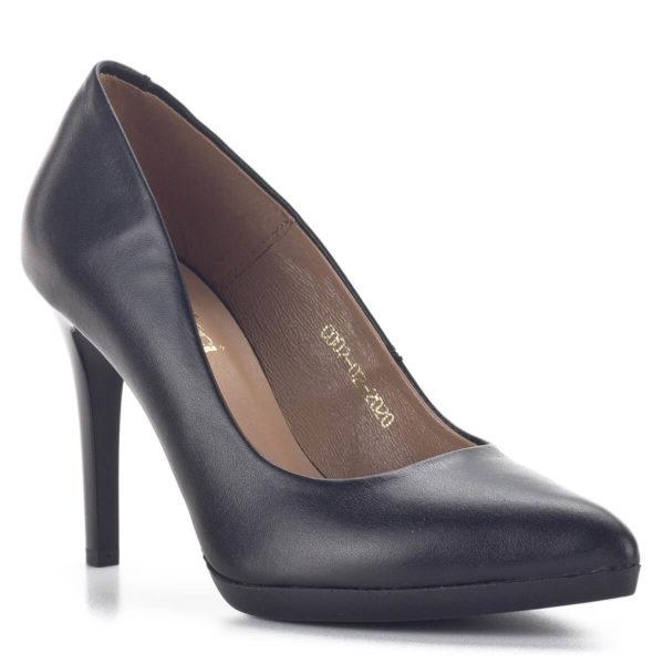 Carla Ricci platformos női magassarkú cipő fekete színben 2