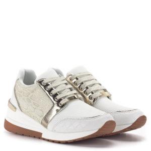 Menbur platformos sneakers fehér-arany színben 1