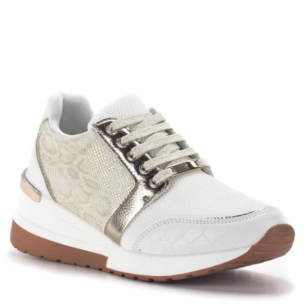 Menbur platformos sneakers fehér-arany színben 2