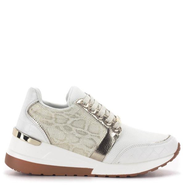 Menbur platformos sneakers fehér-arany színben 3