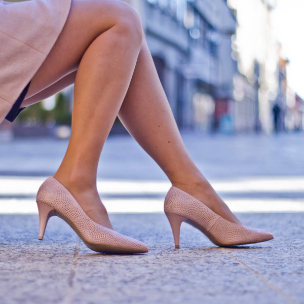 Anis tűsarkú alkalmi cipő rózsaszín, 7,5 cm magas sarokkal 10
