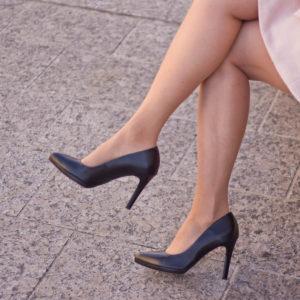 Carla Ricci platformos női magassarkú cipő fekete színben 10