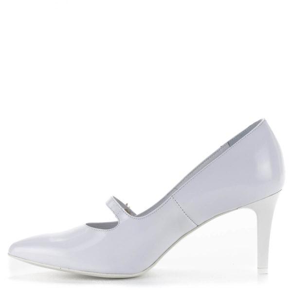 Anis fehér pántos magassarkú menyasszonyi cipő bőr béléssel 4